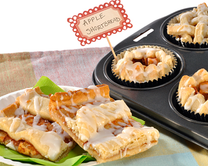 Shortbread Apple Bars or Cups