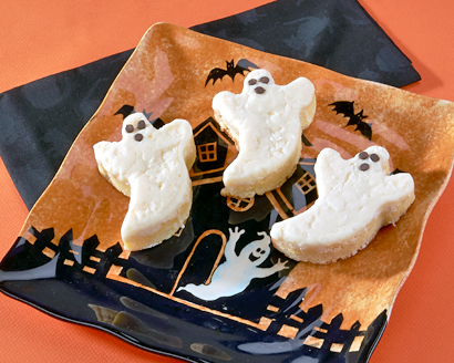 Ghostly White Chocolate and Coconut Brownies