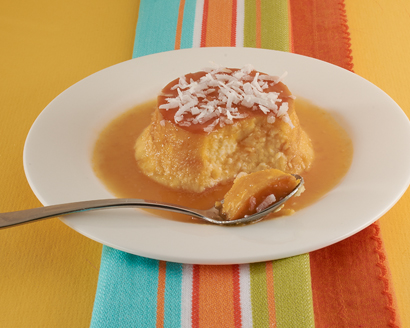 Cheese Flan with Coconut