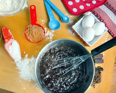 Preparing and Baking Brownies