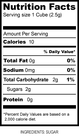 Sugar Dots Nutrition Facts