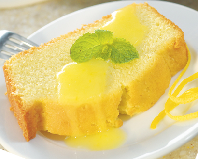Classic Pound Cake With Warm Lemon Sauce