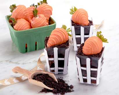 "Chocolate ""Carrot Patch"" Cups"