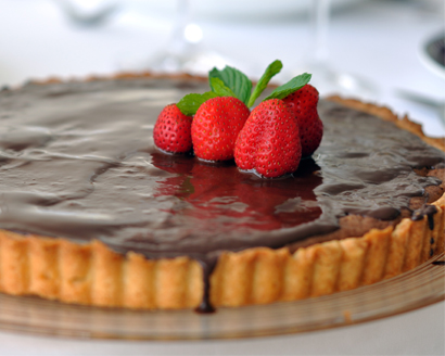 Chocolate Brownie Tart with Chocolate Glaze