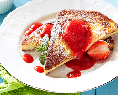Overnight French Toast with Mixed Berry Topping