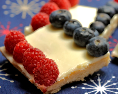 Red, White and Blue Cookie Squares