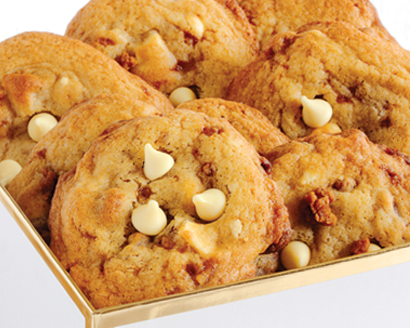 White Coffee `N Toffee Cookies