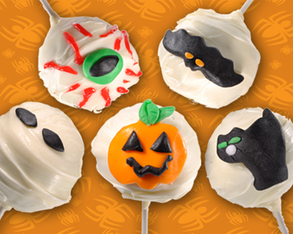 Halloween Red Velvet Cake Pops