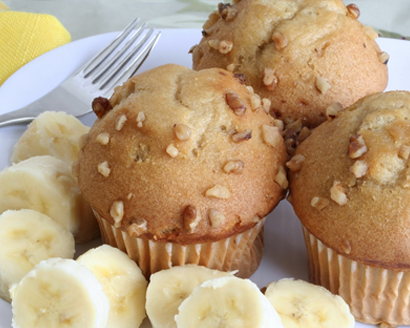 Banana-Raisin Nut Muffins