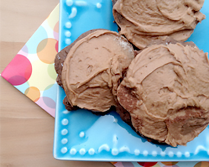 Delightful Devil's Food Drop Cookies with Mocha Frosting