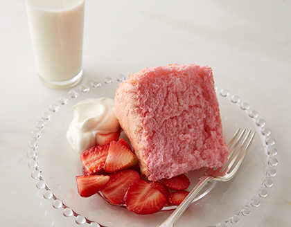 Pretty-in-Pink Angel Food Cake
