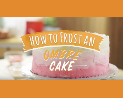 How to Frost an Ombre Cake