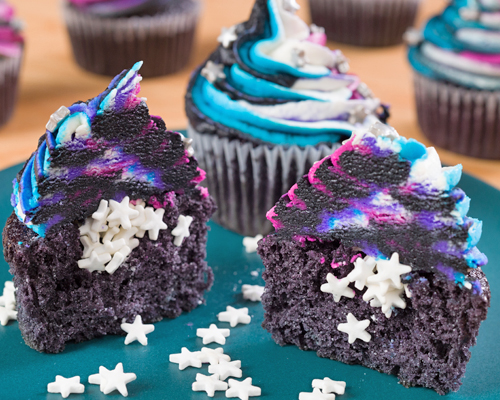 Galaxy Filled Cupcakes