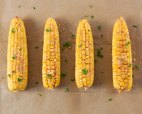 Brown Sugar Butter Roasted Corn on the Cob