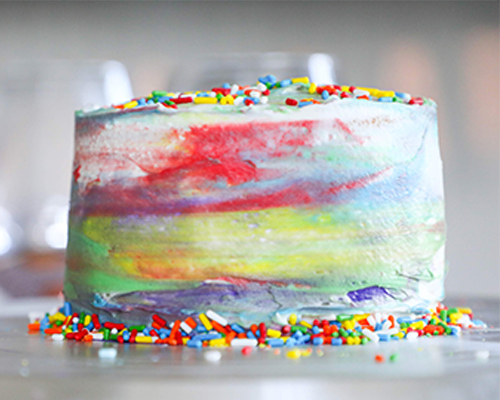 Phenomenal Tie Dye Cake Domino Sugar Personalised Birthday Cards Paralily Jamesorg