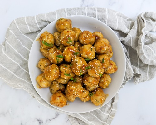 sweet chili turkey meatballs