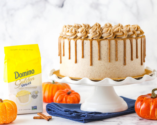 Cinnamon Sugar Swirl Pumpkin Layer Cake