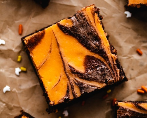 Halloween Cream Cheese Brownies