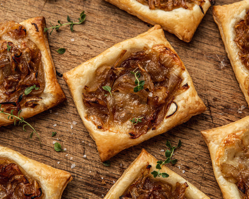Caramelized Onion Puff Pastry Tarts