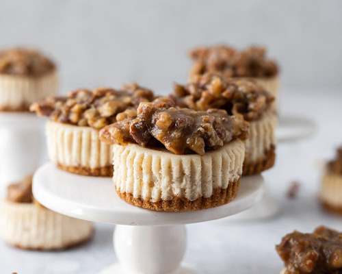 Mini Pecan Pie Cheesecakes