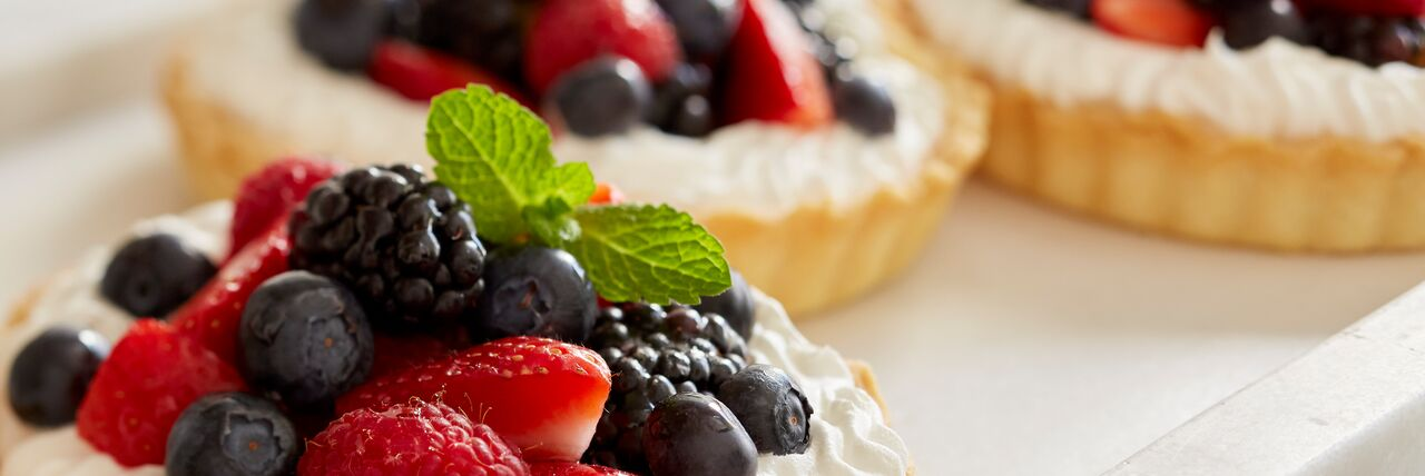 Mixed Berry Tart with Golden Pastry Cream
