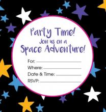 Printable Galaxy Birthday Invitation